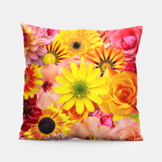 Thumbnail image of ORANGE FLOWERS Pillow, Live Heroes