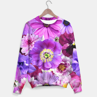 Thumbnail image of PURPLE FLOWERS Sweater, Live Heroes