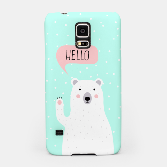 Thumbnail image of Cute Winter Polar Bear says Hello-  Illustration - DESIGN -  Samsung Case, Live Heroes