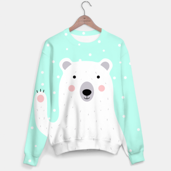 Thumbnail image of Cute Winter Polar Bear -  Illustration - DESIGN -  Sweater, Live Heroes