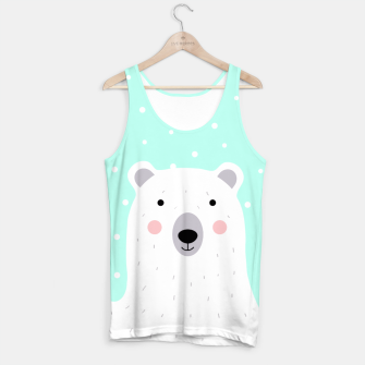 Thumbnail image of Cute Winter Polar Bear -  Illustration - DESIGN -  Tank Top, Live Heroes