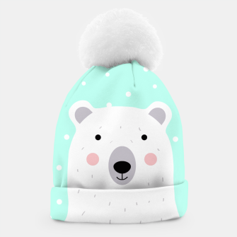 Thumbnail image of Cute Winter Polar Bear -  Illustration - DESIGN -  Beanie, Live Heroes