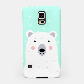 Thumbnail image of Cute Winter Polar Bear -  Illustration - DESIGN -  Samsung Case, Live Heroes