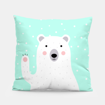 Thumbnail image of Cute Winter Polar Bear -  Illustration - DESIGN -  Pillow, Live Heroes