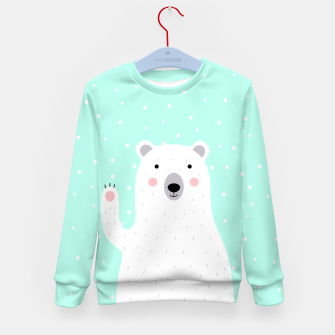 Thumbnail image of Cute Winter Polar Bear -  Illustration - DESIGN -  Kid's Sweater, Live Heroes