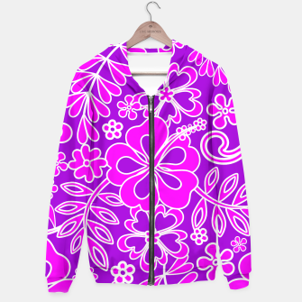 Thumbnail image of Hibiscus Pink and Purple Pattern  Hoodie, Live Heroes