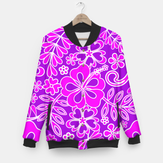 Thumbnail image of Hibiscus Pink and Purple Pattern  Baseball Jacket, Live Heroes