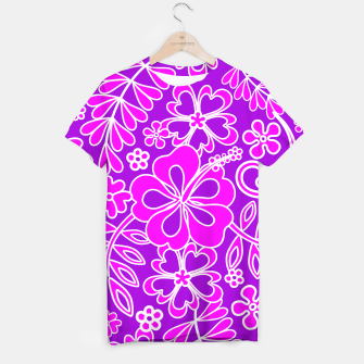 Thumbnail image of Hibiscus Pink and Purple Pattern  T-shirt, Live Heroes
