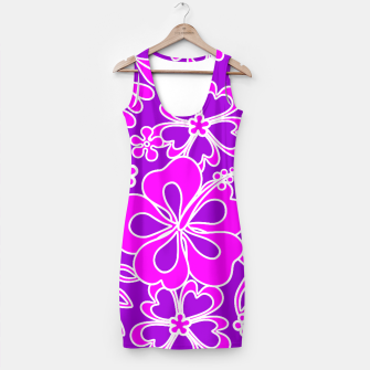 Thumbnail image of Hibiscus Pink and Purple Pattern  Simple Dress, Live Heroes