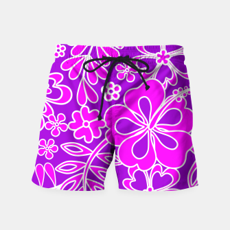 Thumbnail image of Hibiscus Pink and Purple Pattern  Swim Shorts, Live Heroes