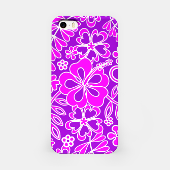 Thumbnail image of Hibiscus Pink and Purple Pattern  iPhone Case, Live Heroes