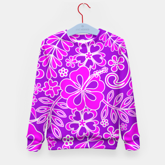 Thumbnail image of Hibiscus Pink and Purple Pattern  Kid's Sweater, Live Heroes