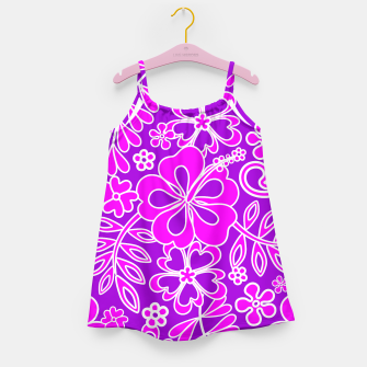 Thumbnail image of Hibiscus Pink and Purple Pattern  Girl's Dress, Live Heroes