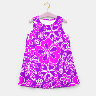 Thumbnail image of Hibiscus Pink and Purple Pattern  Girl's Summer Dress, Live Heroes