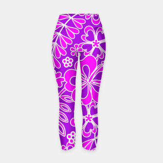 Thumbnail image of Hibiscus Pink and Purple Pattern  Yoga Pants, Live Heroes