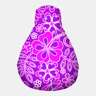 Thumbnail image of Hibiscus Pink and Purple Pattern  Pouf, Live Heroes