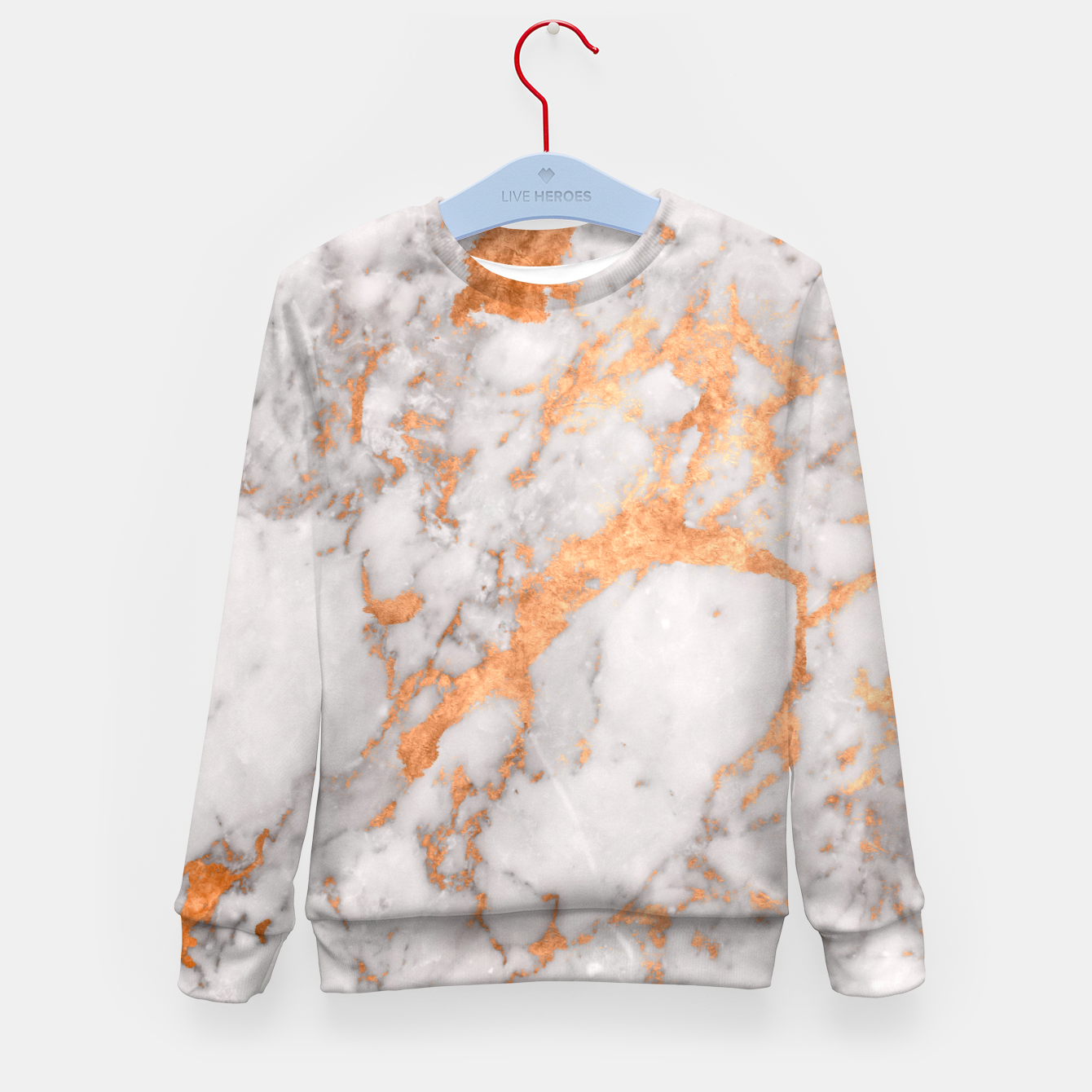 Image of Copper Marble Kid's Sweater - Live Heroes