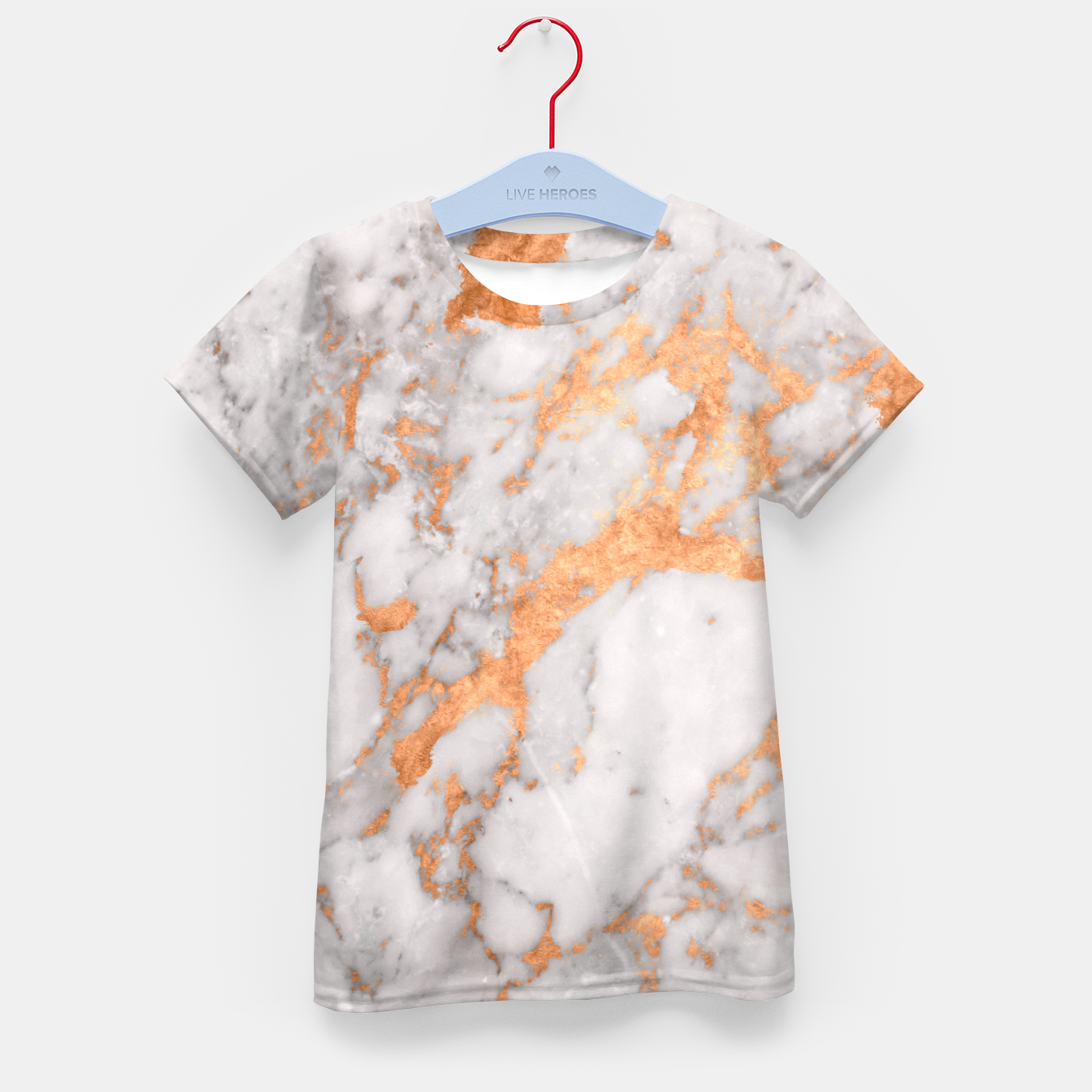 Image of Copper Marble Kid's T-shirt - Live Heroes