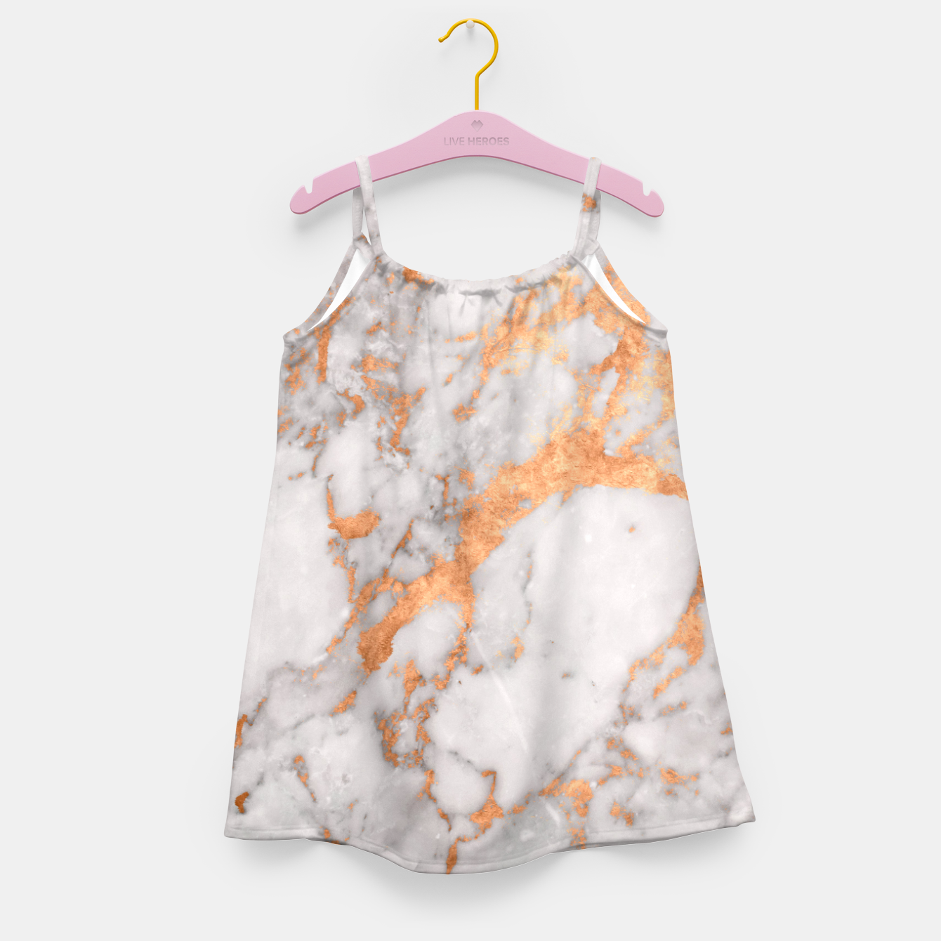 Image of Copper Marble Girl's Dress - Live Heroes