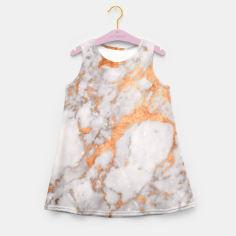 Thumbnail image of Copper Marble Girl's Summer Dress, Live Heroes