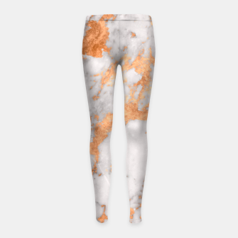 Copper Marble Girl's Leggings thumbnail image