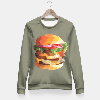 Thumbnail image of Gourmet Burger Polygon Art Fitted Waist Sweater, Live Heroes
