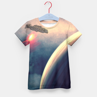 Thumbnail image of Excursion through time Kid's T-shirt, Live Heroes