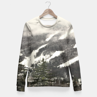Thumbnail image of Snow Mountain Landscape Fitted Waist Sweater, Live Heroes
