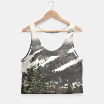 Thumbnail image of Snow Mountain Landscape Crop Top, Live Heroes
