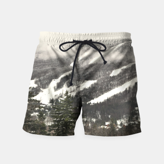 Snow Mountain Landscape Swim Shorts thumbnail image