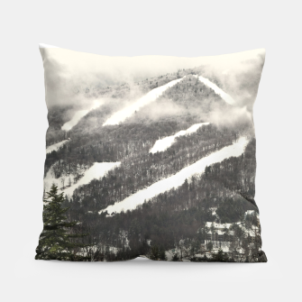 Snow Mountain Landscape Pillow thumbnail image