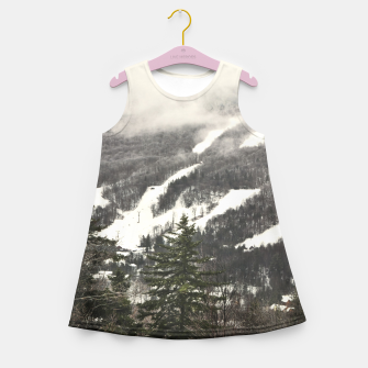 Snow Mountain Landscape Girl's Summer Dress thumbnail image