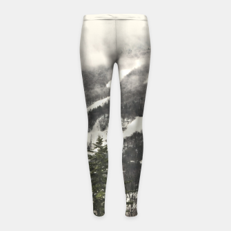 Snow Mountain Landscape Girl's Leggings thumbnail image