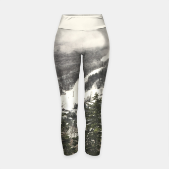 Thumbnail image of Snow Mountain Landscape Yoga Pants, Live Heroes