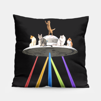 Thumbnail image of CAT INVADERS Pillow, Live Heroes