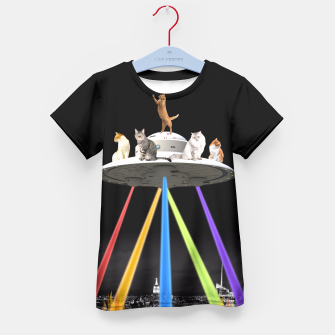 Thumbnail image of CAT INVADERS Kid's T-shirt, Live Heroes