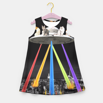 Thumbnail image of CAT INVADERS Girl's Summer Dress, Live Heroes