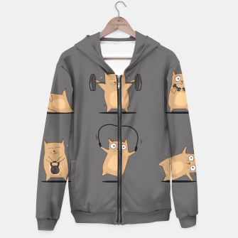 Thumbnail image of FITNESS CAT Hoodie, Live Heroes