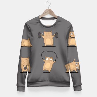 Thumbnail image of FITNESS CAT Fitted Waist Sweater, Live Heroes