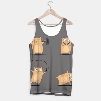 Thumbnail image of FITNESS CAT Tank Top, Live Heroes