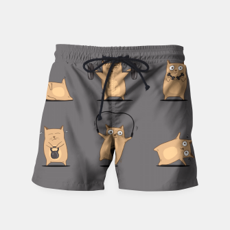 Thumbnail image of FITNESS CAT Swim Shorts, Live Heroes