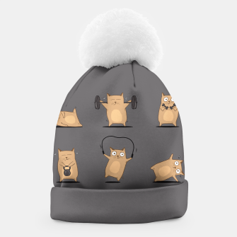 Thumbnail image of FITNESS CAT Beanie, Live Heroes