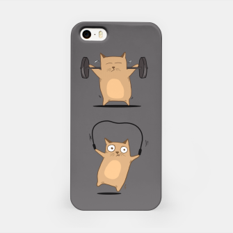 Miniaturka FITNESS CAT iPhone Case, Live Heroes