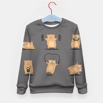 Thumbnail image of FITNESS CAT Kid's Sweater, Live Heroes