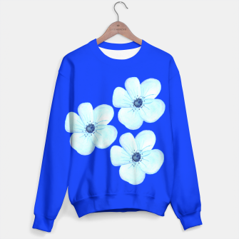 Thumbnail image of Cornflower Blue Watercolor Flower Floral - DESIGN -  Sweater, Live Heroes
