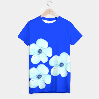 Thumbnail image of Cornflower Blue Watercolor Flower Floral - DESIGN -  T-shirt, Live Heroes