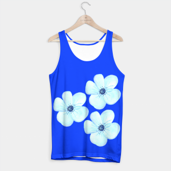 Thumbnail image of Cornflower Blue Watercolor Flower Floral - DESIGN -  Tank Top, Live Heroes