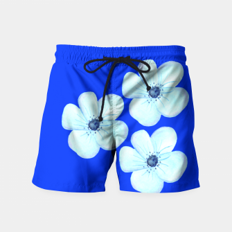 Thumbnail image of Cornflower Blue Watercolor Flower Floral - DESIGN -  Swim Shorts, Live Heroes