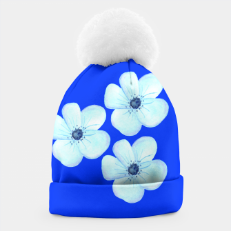 Thumbnail image of Cornflower Blue Watercolor Flower Floral - DESIGN -  Beanie, Live Heroes