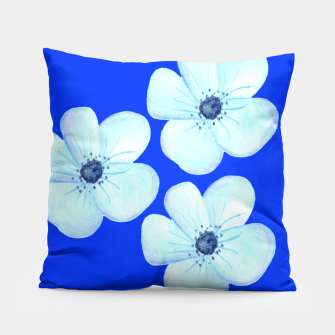 Thumbnail image of Cornflower Blue Watercolor Flower Floral - DESIGN -  Pillow, Live Heroes
